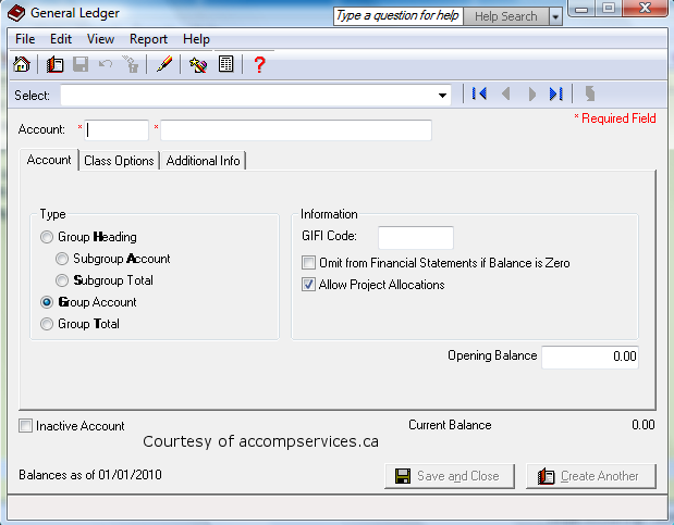General Ledger Account