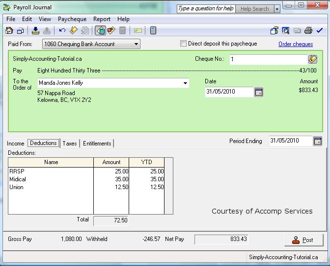 Simply Accounting Payroll Tutorial