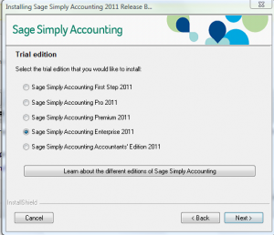 Simply Accounting 2011 Free Trial Installation