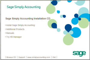 Install Sage Simply Accounting Dialog Box