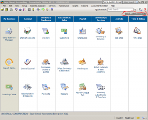 Sage 50 Simply Accounting Home Page1