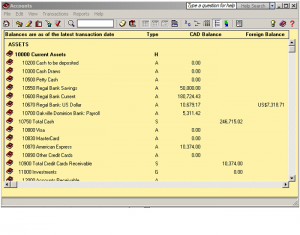 Sage 50 Simply chart of accounts 2