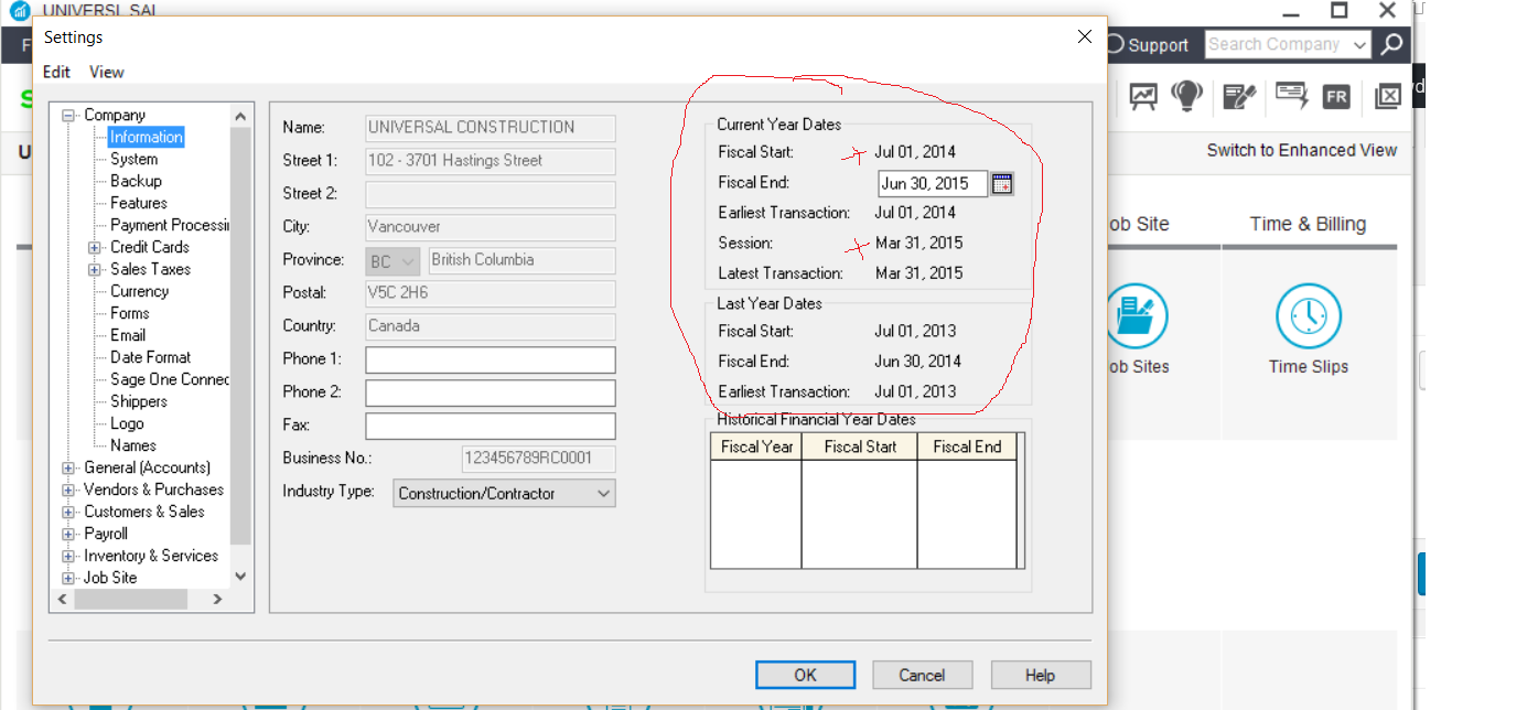 print s invoices after advancing next fiscal year simply settings