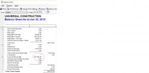 control account balance sheet